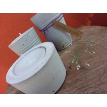 Velas En Cemento - Concreto, Macetas, Souvenir, Mesa