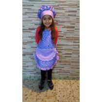 Delantal Cocinerita Con Gorro Para Nenas Disfraz