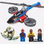 Superheroes Helicoptero Spiderman - Compatible C/ Lego - Sy