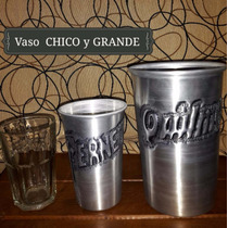 Vasos Chico & Grand - Cincelados Aluminio - X Mayor & Menor