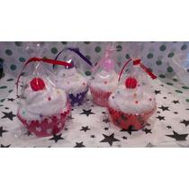 Souvenirs 10 Cupcakes En Toalla (15x20)+ Tarjeta+bolsita