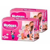 2 Superpack Pañales Huggies Princesas Active Sec Grande