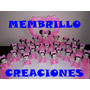 25 Souvenirs Porcelana Fria Minnie Bebe + Central +tarjetas