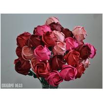 40 Rosas_ Delicado Ramo Artesanal Novios Bodas Origami Deco