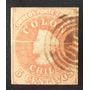 Chile, Sello Sc. 14 Colón 5c 3era Santiago 1865 Usado L6576
