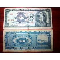 1967 - Billete De Brasil - 10000 Cruzeiros Resellado A 10 Cn