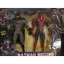 Muñeco Hombre Araña + Batman Con Luz Y Sonido