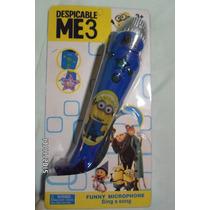 Microfono Infantil Minions Reproduce Tu Voz Para Regalo!!