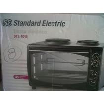 Horno Electrico+standar Electric Ste-1045+45 Litros+2 Anafes