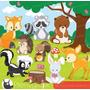 Kit Imprimible Animalitos De La Selva 11 Imagenes Clipart