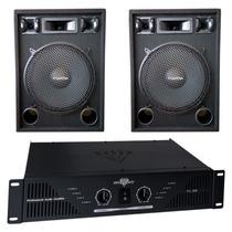 Combo Bafles 2x15 500w 3 Vias Potencia Amplificador