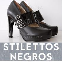 Zapatos Stiletto Cuero - Estiletos Mujer Cerrados - Araquina