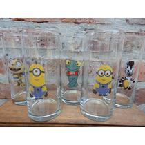 Vasos Souvenirs Personalizad Vidrio Mickey Minnie Bebe Kitty