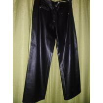 Pantalon Simil Cuero Negro Berazategui