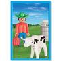 Playmobil Granjero Con Vaca Original Antex