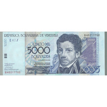 Billete Venezuela 5000 Bolivares 2002 P 84b Sin Circular