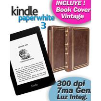 Kindle Paperwhite 3 E-reader Book + Funda Vintage Premium