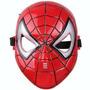 Mascara Hombre Araña Spiderman Con Luz Jugueteria Bloque