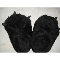 Pantuflas De Garras Negras Adulto *nuevas*