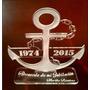 Trofeo Medalla Acrilico Armada X 15 Cm
