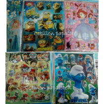 30 Planchas Stickers 20x25 Minions Mickey Sofia Peppa Pig