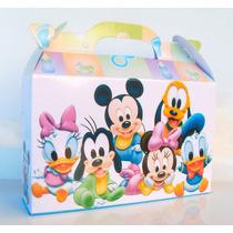 Cajita Mickey Bebé, Minnie Y Sus Amigos. Pack X30 Valijitas