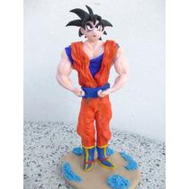 Goku - Dragon Ball - Muñeco De Torta, Porcelana Frìa