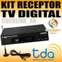 Deco Digital Sintonizador Conversor Tda + Antena + Cab. Hdmi