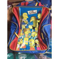 Mochila Con Carro Escolar The Simpsons Original