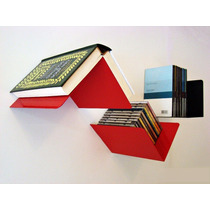 Estante Repisa Biblioteca Flotante Multiuso Fly Chapa X 2