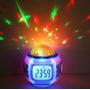Reloj Despertador Digital Alarma Proyector Estrellas Música