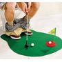 Mini Golf Baño Living Completo Con Palo Paño Hoyo Original!