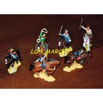 Soldados De Plastico Granderos Indios Cowboys Africa Korps