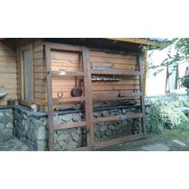 Portón Garaje De Cedro Con Puerta Corrediza