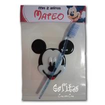 Mickey Y Minnie. Souvenir Portacepillos De Dientes