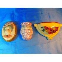 El Arcon Lote De 3 Floreros Adornos De Pared Porcelana 33103