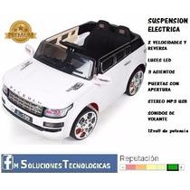 Auto Coche Batería Niño Susp Electrica Remoto Luces Mp3