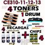 Toners Hp 1025 126a Juego X4 Unidad De Imagen Ce314+ 4 Reca