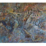 Cuadro Óleo Y Coll S/madera-original Alfredo Speroni-80 X 70