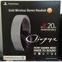 Headset Sony Gold Wireless 20 Aniversario Ps3 Ps4 Original