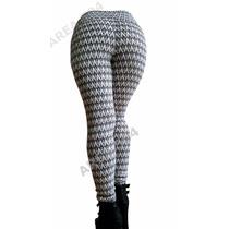 Calzas Tiro Alto Chupin Legging En Bengalina Modeladoras