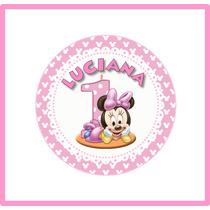 Círculos Imprimibles Minnie Bebé - Para Imprimir