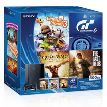Sony Playstation 3 500gb+little Big Planet 3+tlof + Gow+ Gt6