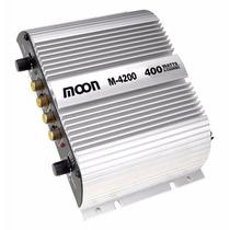 Potencia Para Auto Moto Moon M4200 400w Max 4 Canales C J F