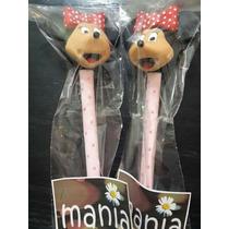 Lapiceras En Porcelana Fria! Minnie, Mickey, Kitty Y Mass
