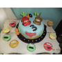 Torta 3kg Cars O Spiderman Decorada+ Doc Cupcakes Zona Sur