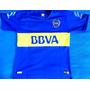 Nueva Camisetas Boca Jrs!tevez Azul Francia 2016 Con Pipa