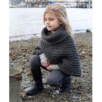 Poncho Tejido Crochet Artesanal Nene Y Nena Varios Modelos