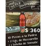 Promo Fiesta - 10 Prepizzas + 2 Kg Muzzarella + 1 L Tomate
