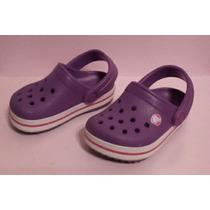 Crocs Infantiles Casi Sin Uso Color Violeta Nro 4/5 =20/21